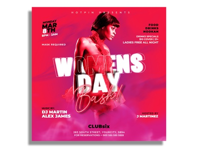 Womens Flyer Template psd print party flyer party nightclub night club music ladies night ladies invitation girls night out fashion event flyer club flyer celebration card templates card 8 march