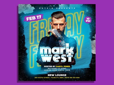 Dj Flyer Template party flyer nightclub music event mixtape invitation instagram house music guest dj flyer template elegant electronic edm dubstep dj tour dj event cover club flyer banner artist flyer