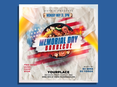 Memorial Day Bbq Flyer Template party flyer party memorial day flyer memorial day july 4th independence flyer independence day flyer independence day
