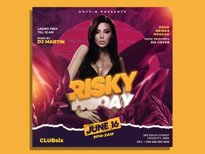 Summer Night Club Flyer Template summer flyer summer sexy seductive psd party flyer party nightclub night club music luxury ladies night ladies invitation girls night out girl friday night fashion event flyer
