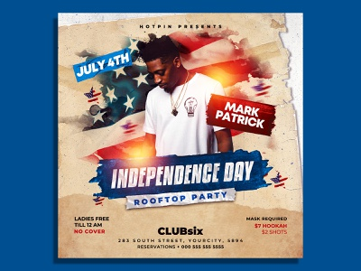 Independence Day Flyer Template party