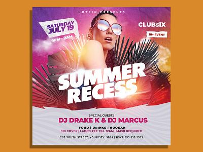 Summer Flyer Template summer cocktail