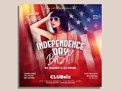 Independence Day Flyer Template poster