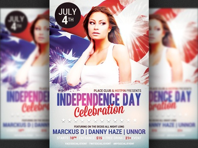 Independence Day 4Th July Paty Flyer Template By Christos