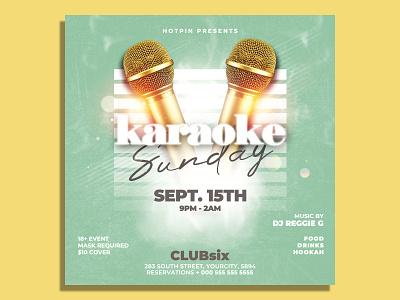 Karaoke Flyer Template party