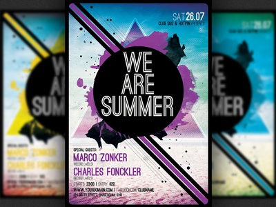 minimalism summer party flyer template by hotpin dribbble dribbble