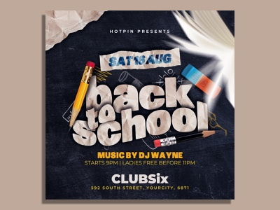 Back To School Flyer Template psd