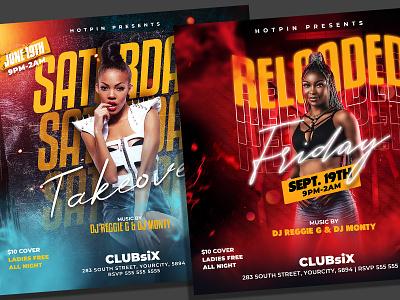 Night Club Flyer Bundle Template summer flyer