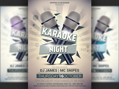 Karaoke Night Party Flyer Template By Christos Andronicou  Dribbble