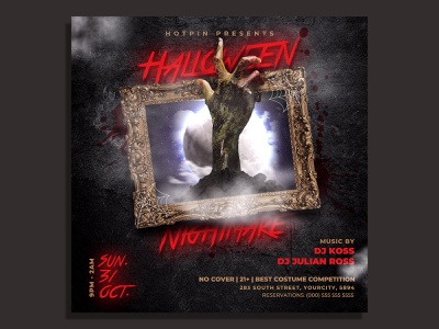 Halloween Flyer Template scary
