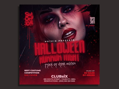 Halloween Flyer Template poster