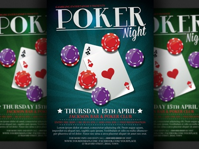 Poker Night Flyer Template by Christos Andronicou Dribbble – Fundraiser Flyer Template