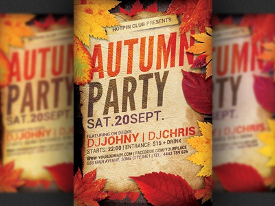 autumn party flyer template by hotpin dribbble dribbble
