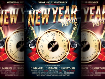 new years eve party flyer template by hotpin dribbble dribbble