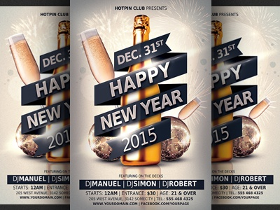 New Years Eve Party Flyer Template By Christos Andronicou - Dribbble