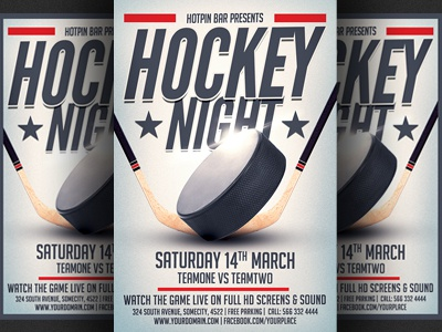 Hockey match flyer template by christos andronicou dribbble hockey match flyer template maxwellsz