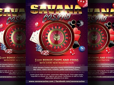 casino magazine ads flyer template by christos andronicou dribbble