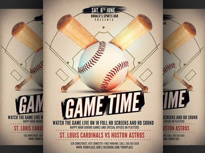 Baseball Game Flyer Template By Christos Andronicou  Dribbble