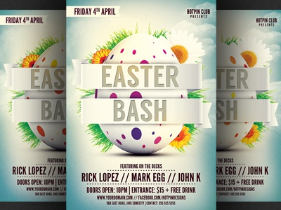 Easter Bash Party Flyer Template By Christos Andronicou  Dribbble