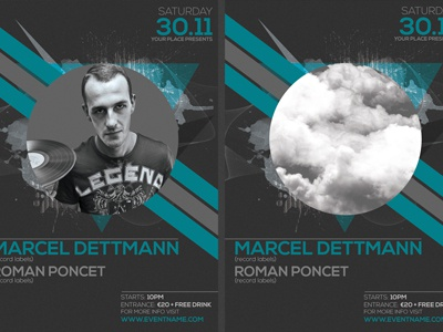Minimal Party Flyer Template By Christos Andronicou  Dribbble