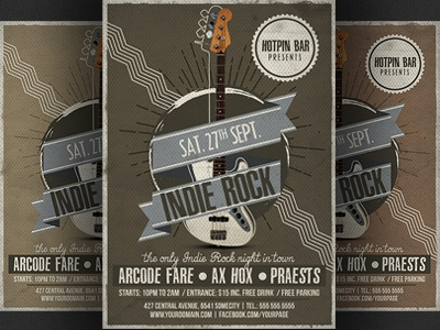 Indie Rock Flyer Template By Christos Andronicou Dribbble