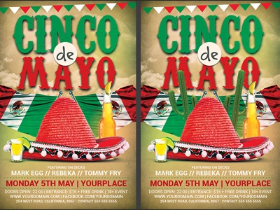 cinco de mayo flyer template 3 by hotpin dribbble dribbble