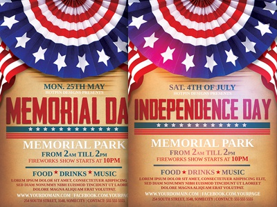 Independence Memorial Day Flyer Template By Christos Andronicou