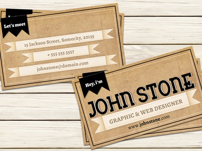 Vintage business card template by christos andronicou dribbble vintage business card template flashek Gallery