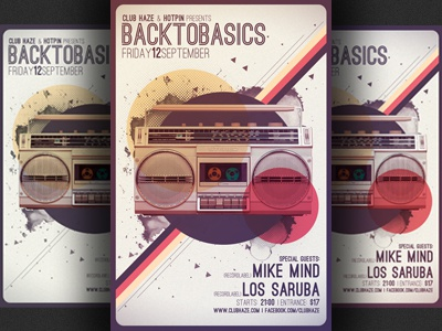 Minimalism Retro Party Flyer Template by Christos Andronicou – Retro Flyer Templates
