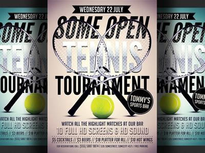 Tennis Flyer Template tennis tournament tennis open tennis match tennis flyer tennis ball sports bar racket psd poster flyer template design advertising