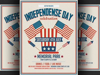 Independence Day Flyer Template By Christos Andronicou  Dribbble