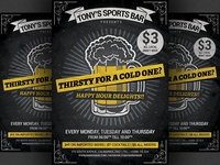 Beer Promotion Happy Hour Flyer Template v2