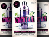 Cocktail Party Flyer Template 3