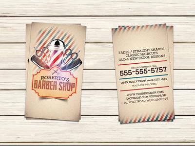 Barber Shop Business Card Template business card template barber shop business card hair salon advertising modern salon flyer hair cutting hair cuts facials coupons barbershop barber