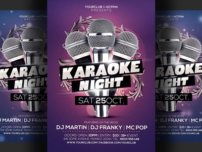 Karaoke Night Flyer Template 3 By Christos Andronicou Dribbble