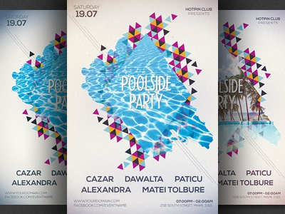 Minimal Summer Party Flyer Template By Christos Andronicou  Dribbble