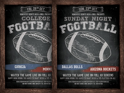 american football flyer template by hotpin dribbble dribbble