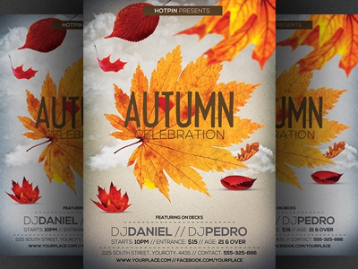 autumn fall party flyer template by hotpin dribbble dribbble