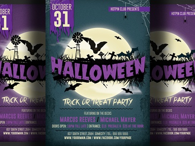 Halloween Party Flyer Template 4 By Christos Andronicou Dribbble