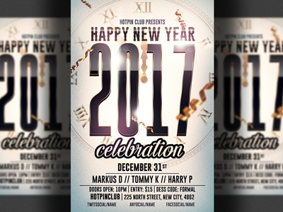new year psd flyer template nye flyer nye night club new years eve new year party
