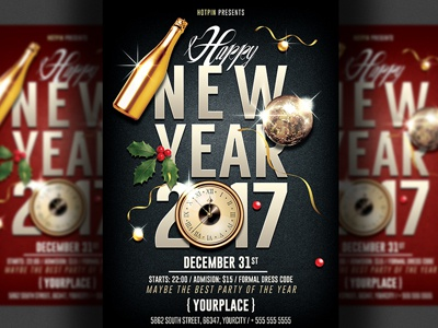New Year Eve Party Flyer Template By Christos Andronicou - Dribbble