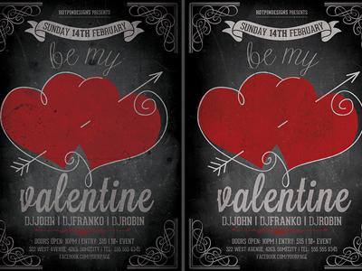 Vintage Valentines Day Flyer Template