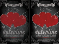 Vintage Valentines Day Flyer Template