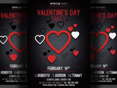 Valentines Day Minimal Flyer Template