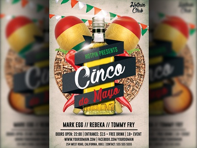 cinco de mayo flyer template by christos andronicou dribbble