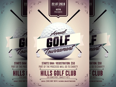 Golf Tournament Flyer Template By Hotpin Dribbble Dribbble
