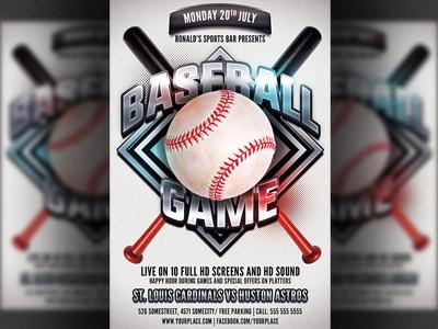 Baseball Game Flyer Divingexperience