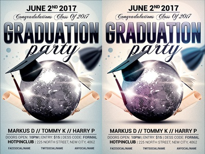 Graduation Party Flyer Template By Christos Andronicou  Dribbble