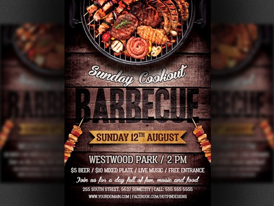 Barbecue Bbq Flyer Template By Christos Andronicou  Dribbble