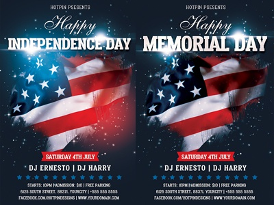 independence memorial day flyer template copy by hotpin dribbble